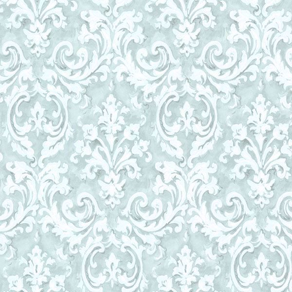 Picture of Aurora Blue Damask