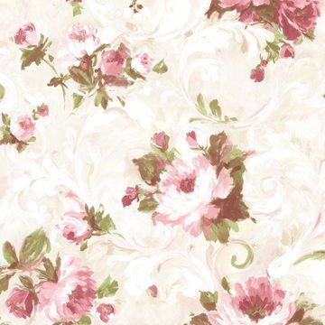 Picture of Jasmine Rose Floral Scroll