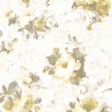 Picture of Jasmine Yellow Floral Scroll