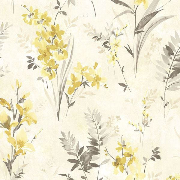 Picture of Henrietta Yellow Watercolor Floral