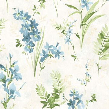 Picture of Henrietta Blue Watercolor Floral