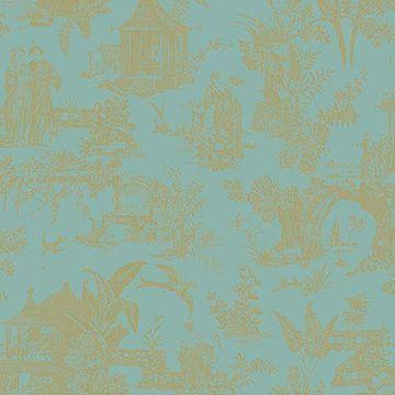 Picture of Zen Garden Turquoise Toile