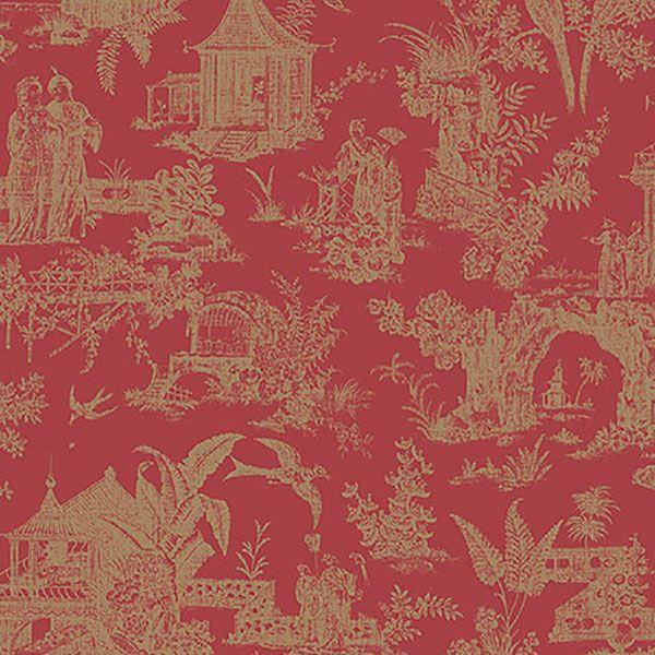 Picture of Zen Garden Red Toile