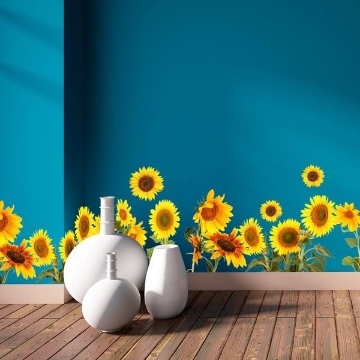 Picture of Sunflowers Border Decal