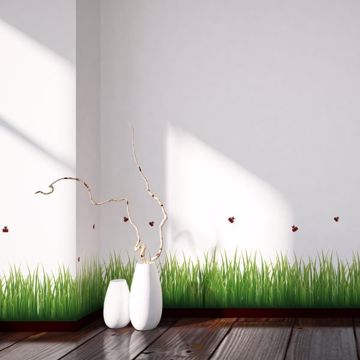 Picture of Grass & Ladybugs Border Decal