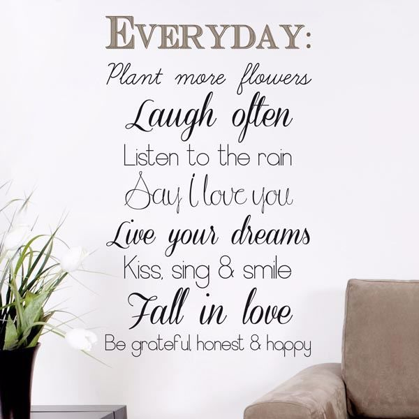 Picture of Everyday Wall Quote Decals