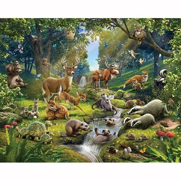 Picture of Animals Of The Forest Wall Mural