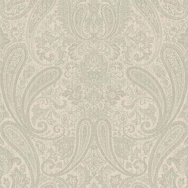 Picture of Ludlow Light Grey Paisley Wallpaper
