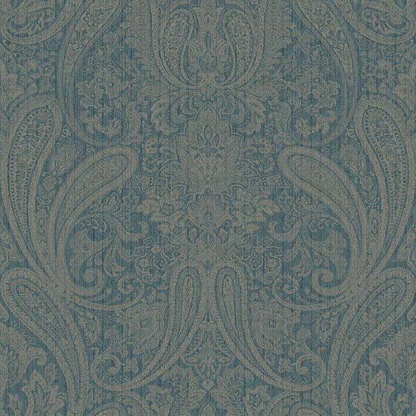 Picture of Ludlow Blue Paisley Wallpaper