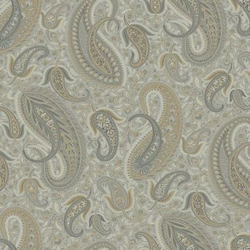 Picture of Nathaniel Silver Modern Paisley Wallpaper