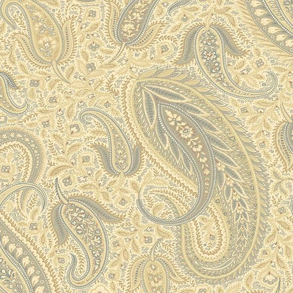 Picture of Nathaniel Beige Modern Paisley Wallpaper