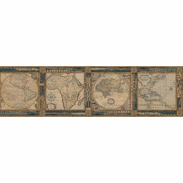 Picture of Oliver Blue Map Border