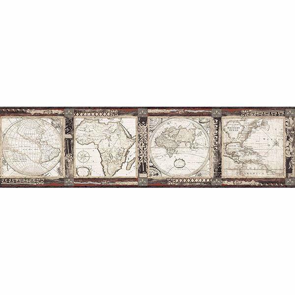 Picture of Oliver Black Map Border