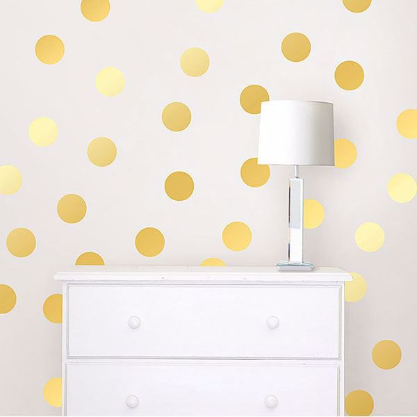 Picture of Gold Foil Confetti Dot Decals