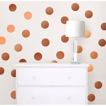 Picture of Copper Foil Confetti Dot Decals