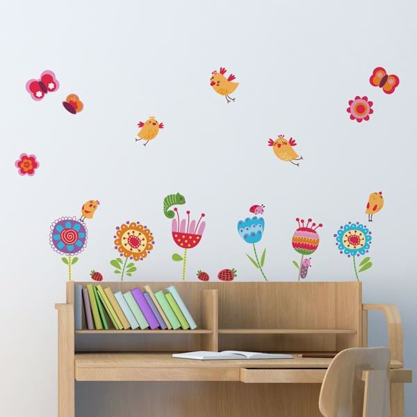 Picture of Birds & Flowers Wall Decals