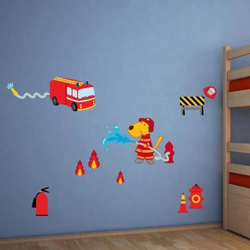 Picture of Fireman Wall Decals