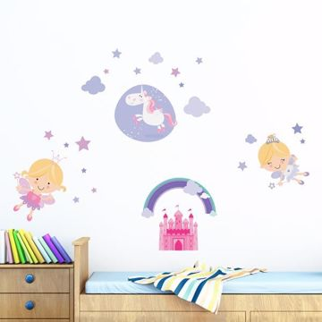 Picture of Happy Fairies Wall Decals
