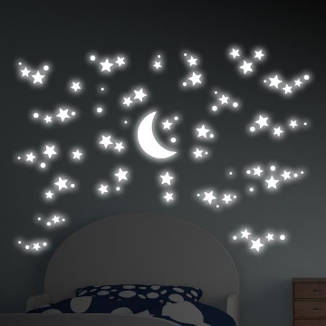 Picture of Starry Night Glow in the Dark Wall Decals
