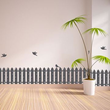 Picture of Fence & Birds Border Decal