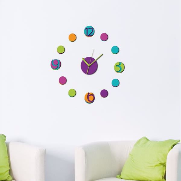 Picture of Colorful Clock Wall Decals