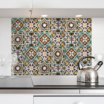 Picture of Green Tiles Kitchen Panels