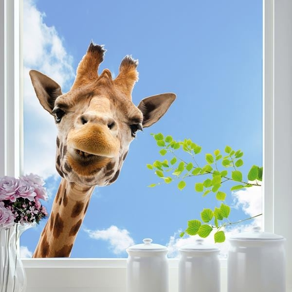 Picture of Giraffe Window Decals