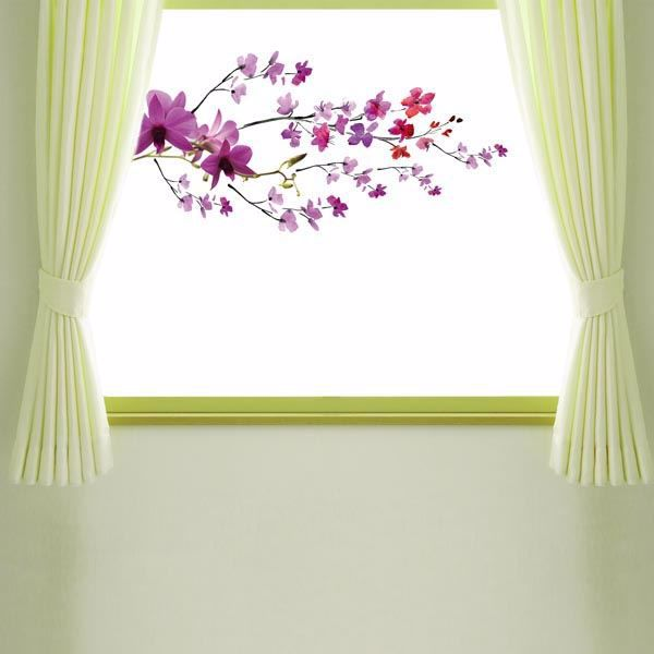 Picture of Purple Branch Window Decals