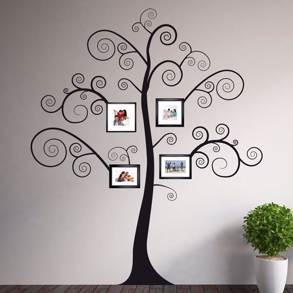 Picture of Black Family Tree Wall Decals