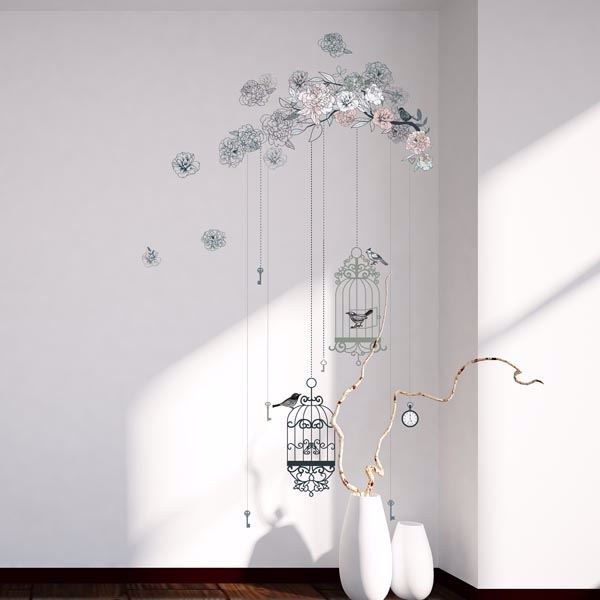 Picture of Birds & Cages Wall Decals