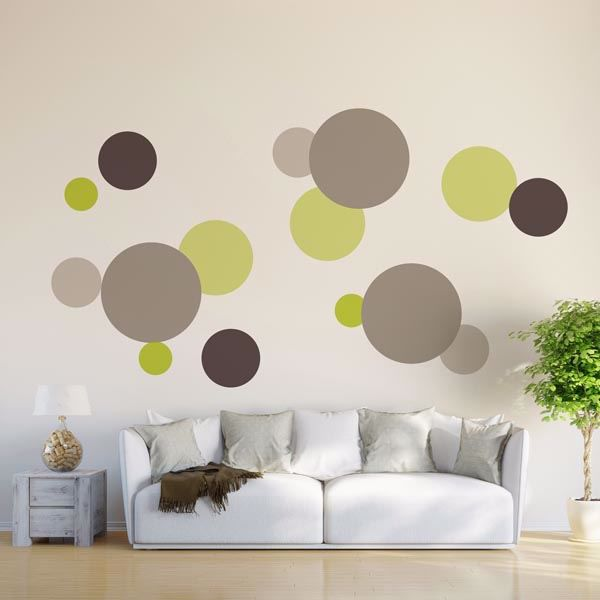 Picture of Green Dots Wall Decals