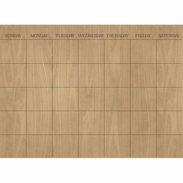 Picture of Hardwood Monthly 17.5 x 24 Dry Erase Calendar Decal