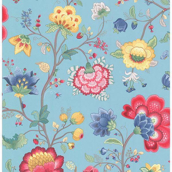 Picture of Epona Light Blue Floral Fantasy