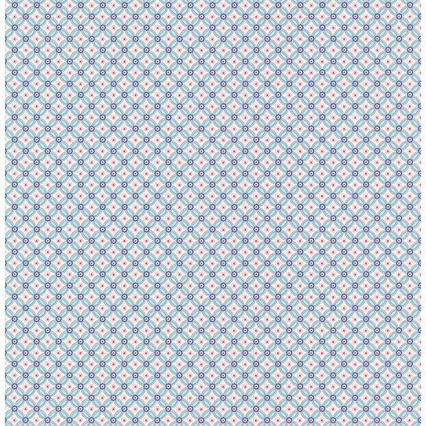 Picture of Eebe Light Blue Floral Geometric