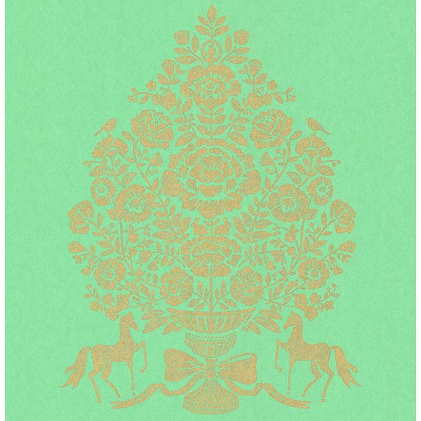 Picture of Till Turquoise President Damask