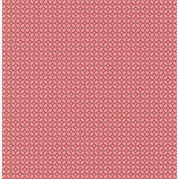Picture of Eebe Red Floral Geometric