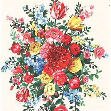 Picture of Ayaanle Cream Dutch Painters Floral