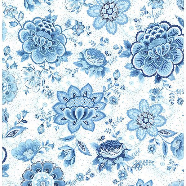 Picture of Kali Light Blue Folklore Chintz