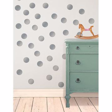 Metallic Silver Confetti Dots