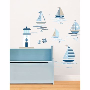 Picture of Ships Ahoy Wall Art Kit