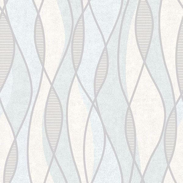 Picture of Gyro Light Blue Swirl Geometric
