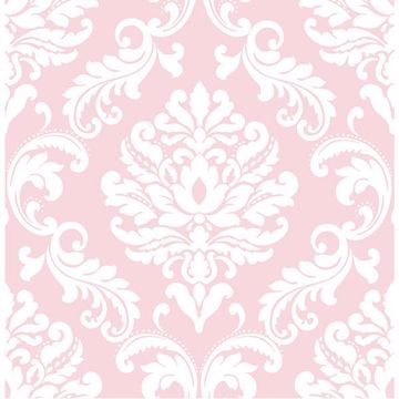 Picture of Pink Ariel Peel And Stick Wallpaper