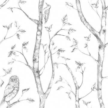 Picture of Gray Woods Peel And Stick Wallpaper