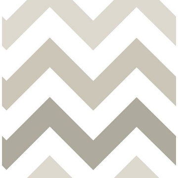 Picture of Taupe Zig Zag Peel And Stick Wallpaper