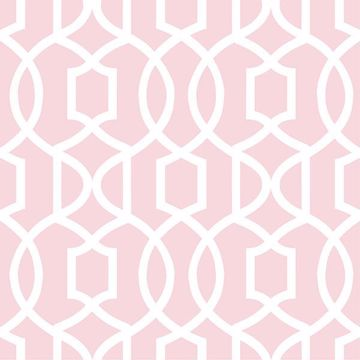 Picture of Pink Grand Trellis Peel And Stick Wallpaper