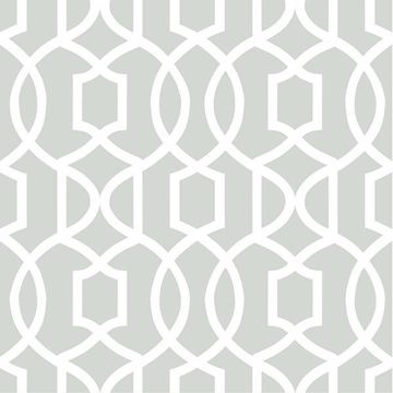 Picture of Gray Grand Trellis Peel And Stick Wallpaper