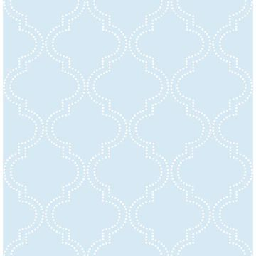 Picture of Blue Quatrefoil Peel And Stick Wallpaper