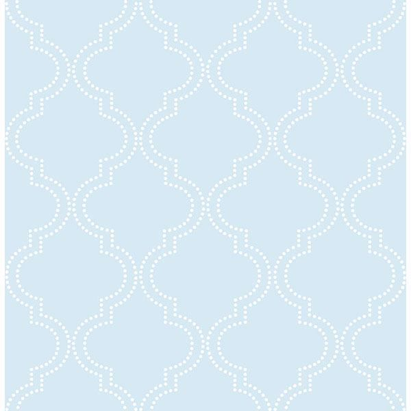 Picture of Blue Quatrefoil Peel And Stick Wallpaper