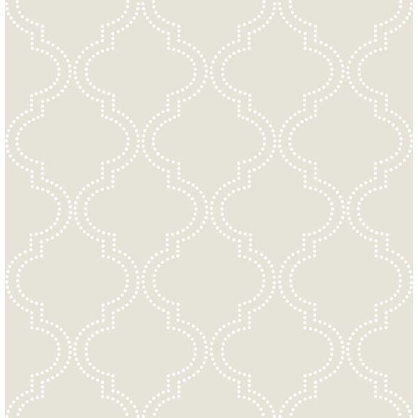 Picture of Taupe Quatrefoil Peel And Stick Wallpaper