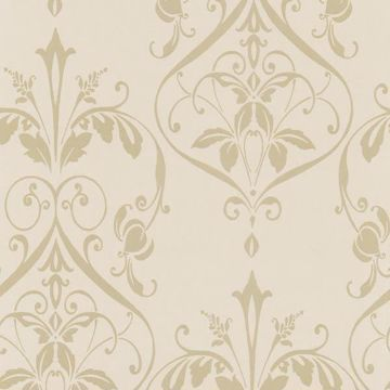 Beige Nouveau Damask Wallpaper - Lucky Day